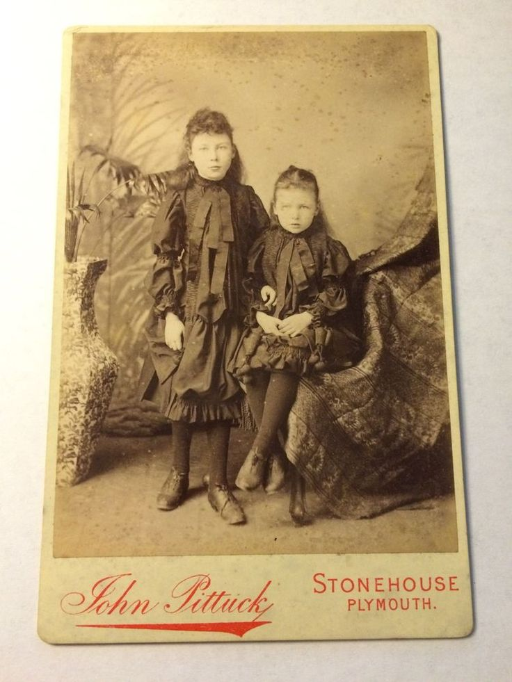 Rare children deep mourning crepe victorian cabinet card photo from