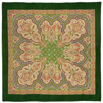 Authentic Russian shawl of Pavlovo Posad manufactory 89x89,100% wool, 29.99 GBP - buy at www.vasilisa.co.uk