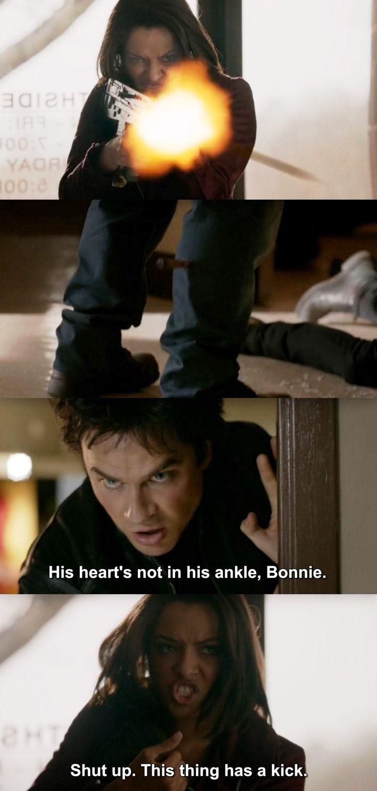 The Vampire Diaries TVD 7X19 - Damon & Bonnie .