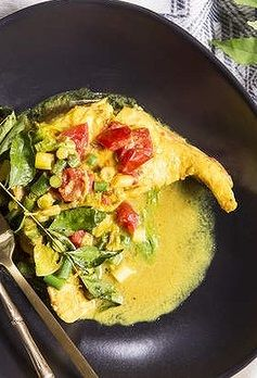 KAREN'S ROCKLING FISH CURRY with GREEN BEANS [India, Modern] [Karen Martini] [goodfood]