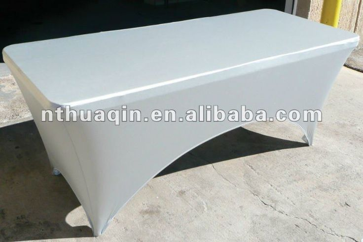 dikdörtgen 6ft spandex masa örtüsü beyaz streç masa örtüsü uygun ziyafet masaları