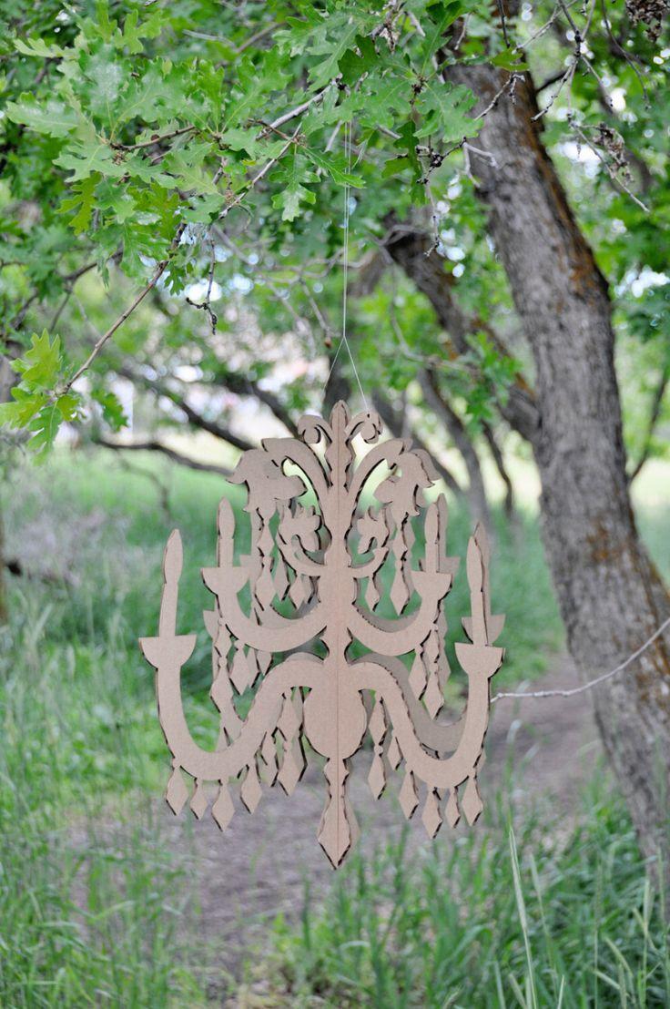 LARGE DIY Cardboard Chandelier by sayhelloshop on Etsy https://www.etsy.com/listing/86901424/large-diy-cardboard-chandelier