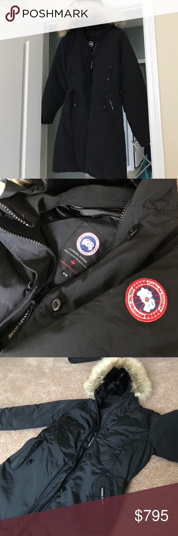 Canada Goose Kensington Jacket Women's Medium Brand-new with unattached tags. Beautifully lined down jacket with goose feathers. The best and warmest down jacket for extreme Arctic conditions. Water resistant and durable. Made in Canada. 100% authentic. Never worn but tags were taken off to try on and will be included with the jacket. Now that I live in Florida I will never need this  . Retails for $845 Canada Goose Jackets & Coats Puffers