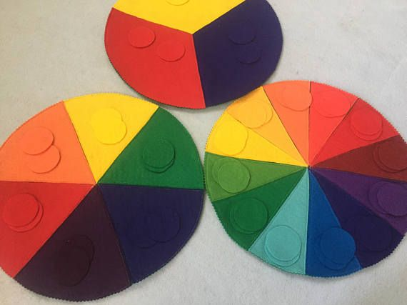 Felt color sorting mats primary secondary and tertiary