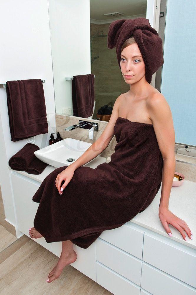 Chocolate Ultra Fine Cotton Towels #BespokeBathSet #UltraFineCotton #LuxuriousTowels #iRelaxAU #AweSplendid #PerfectGift #ForHer #ForHim