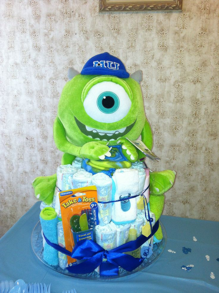 Motorcycle Diaper Cake Monster Inc