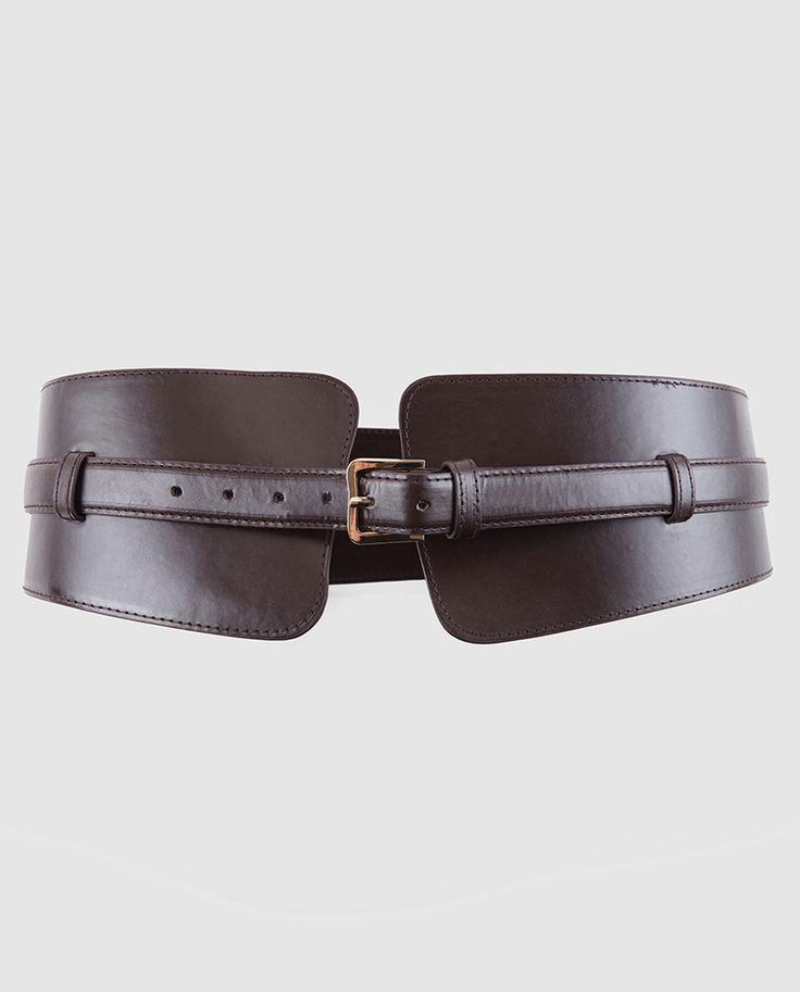 Cinturón de mujer ancho marrón