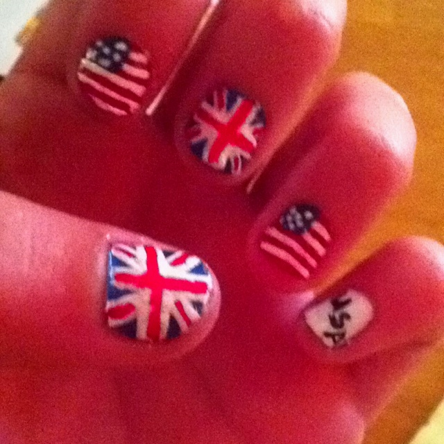 olympic nails. representing my teams! #teamUSA (With ...