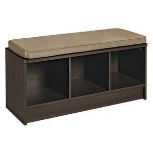 ClosetMaid 3 Cube Storage Bench Espresso