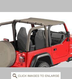 Header Bikini® Top, Jeep TJ (1997-2002), Bestop