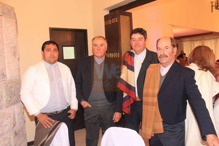 Fredy López, Carlos Dibier, Sergio Guerra y José Ramón Espinoza.  Premiación de la Asociación de Rodeo de Curicó 22 de junio 2013