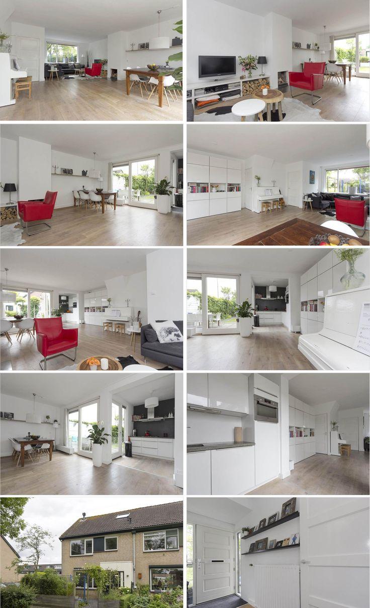 Uitbouw Keuken Jaren 30 : haard / Jaren '30-deuren / Witte piano / uitbouw keuken en uitbouw