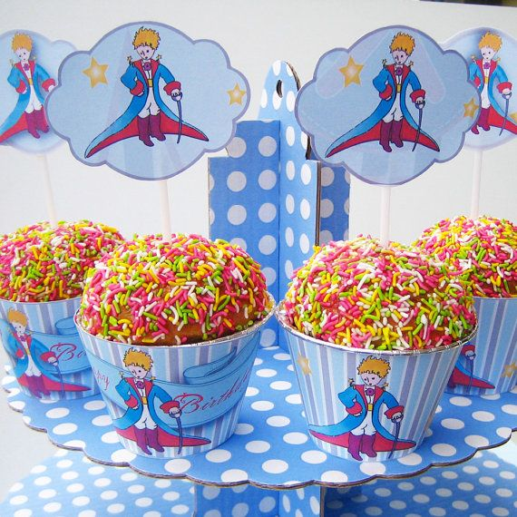 Little Prince-Theme-Cupcake Wrappers & Toppers-High by SmartPrint