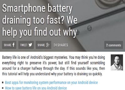 How to fix or solve Android Smartphone battery depleted or running empty fast