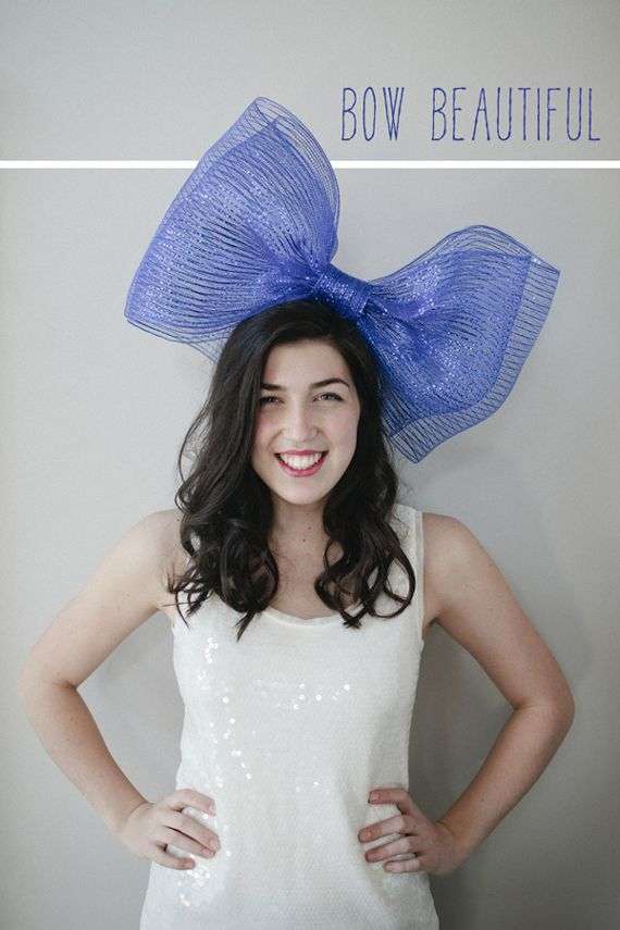 beautiful bow party hat