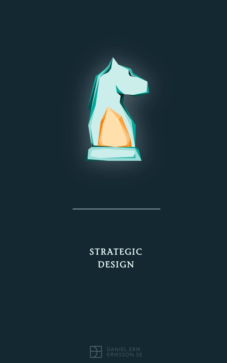 Strategical Design Poster by DanielErikEriksson.se. Chess Knight with a profound core.
