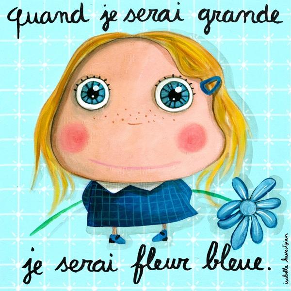 Tableau fleur bleue Isabelle Kessedjian