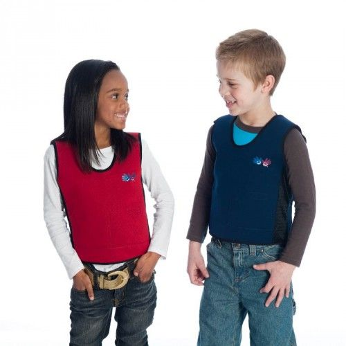 Our exclusive vests combine weight and pressure to help kids stay calm and focused in the classroom.