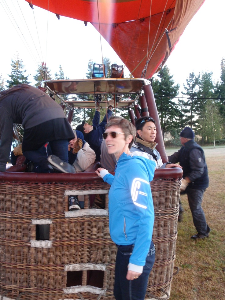 Enjoying fresh air & seeing the world from a new perspective in a hot air balloon ride 2011