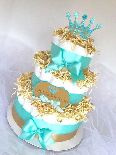 diaper-cake-little-prince-tiffany-blue...so cute!