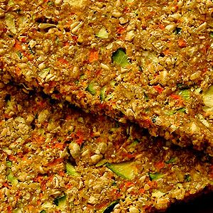 Zucchini Carrot Bread With Wheat Berries, Flax Seeds, Zucchini, Carrots, Shallots