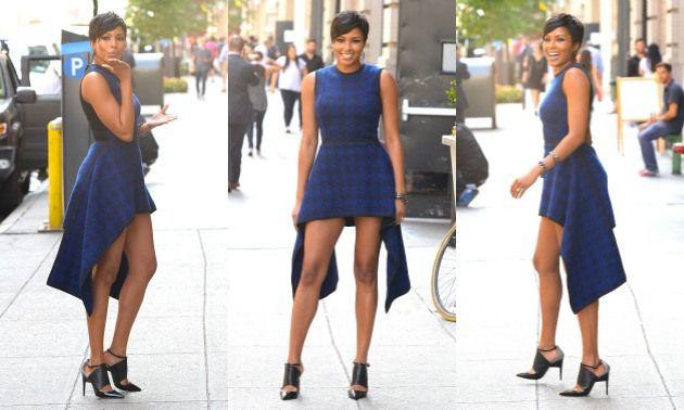 alicia quarles dress | ... LOOK: Alicia Quarles Teaches Us How To Accessorize A High-Low Dress