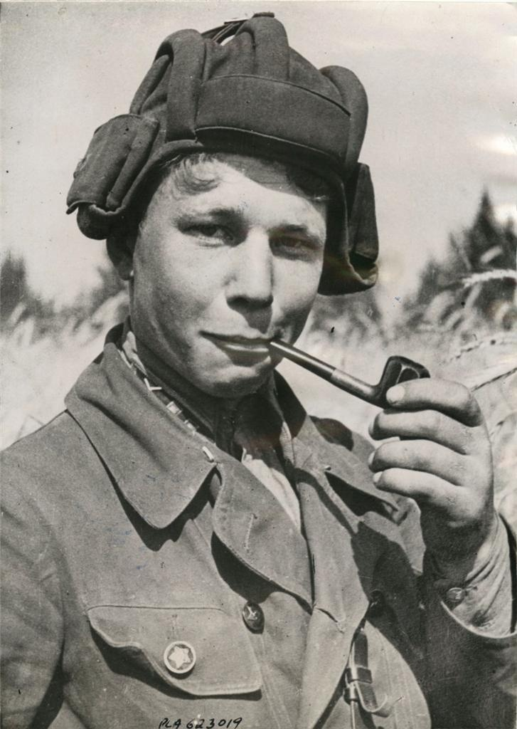 1941- Lt. I. Pirozhkov, commander of Soviet heavy tank, who with his crew is credited with destroying a whole column of enemy motorized and mechanical troops.