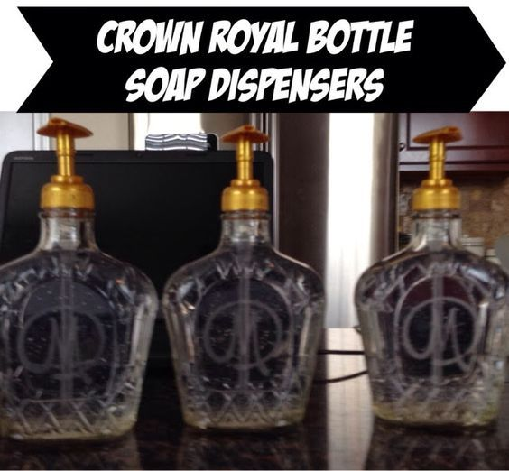 CCM Paper Designs: Personalized Crown Royal Bottle Soap Dispensers