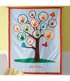 growth handprint quilt