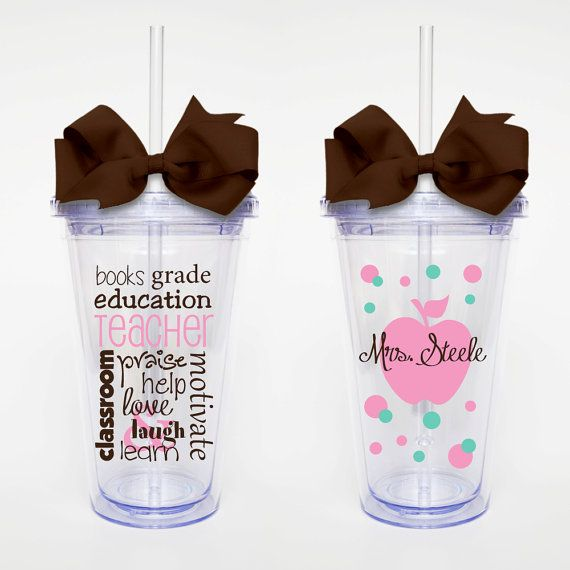 Teacher Subway Art  Acrylic Tumbler Personalized by SweetSipsters, $15.00