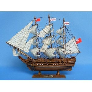 "HMS Bounty 14"" Tall Model Ship - Already Built Not a Kit - Wooden Tall Sailing Ship Replica Scale Ship Model Boat Home Nautical Beach Wall Décor or Gift - Sold Fully Assembled (Toy) http://howtogetfaster.co.uk/jenks.php?p=B002YLIIPC B002YLIIPC"