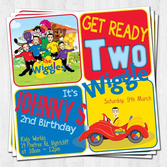 WIGGLES Birthday Invitation Party Printable by theprintablecafe