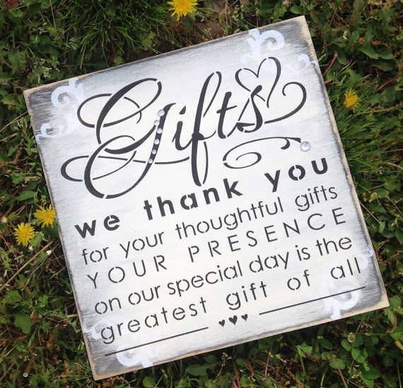 Wedding gift table sign by KerriArt on Etsy, $22.00