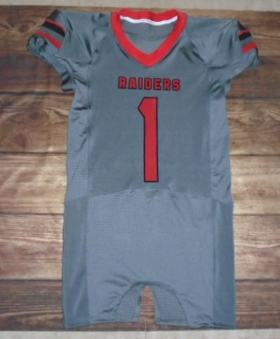 Take a look at this custom jersey designed by Raiders Football and created at Don's World of Sports in Palos Hills, IL! http://www.garbathletics.com/blog/raiders-football-custom-jersey-7/ Create your own custom uniforms at www.garbathletics.com!