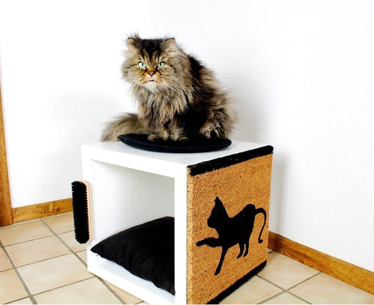 ikea hack katzenkratzbaum aus kallax regal einfach und schnell selbst gemacht katze. Black Bedroom Furniture Sets. Home Design Ideas