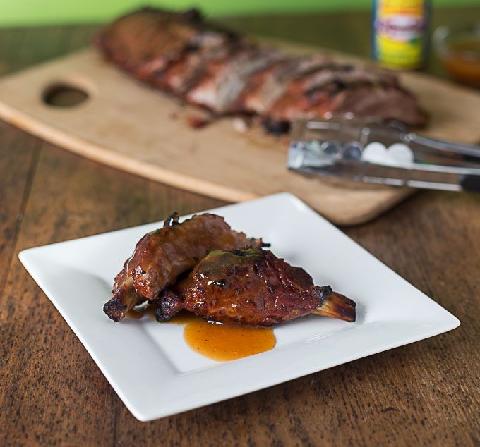 Sweet and spicy Mango Habanero Ribs made with El Yucateco hot sauce are sure to be an instant favorite at your next summertime gathering. #KingofFlavor
