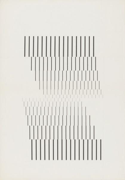 Wolfgang Weingart [Line research series 2 of 5]-Kunstgrafik 1964