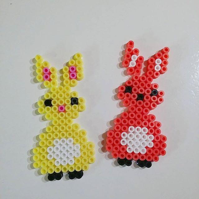 Easter bunnies hama beads by  tijariia