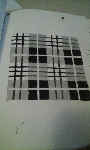 Tartan zwart wit grijs