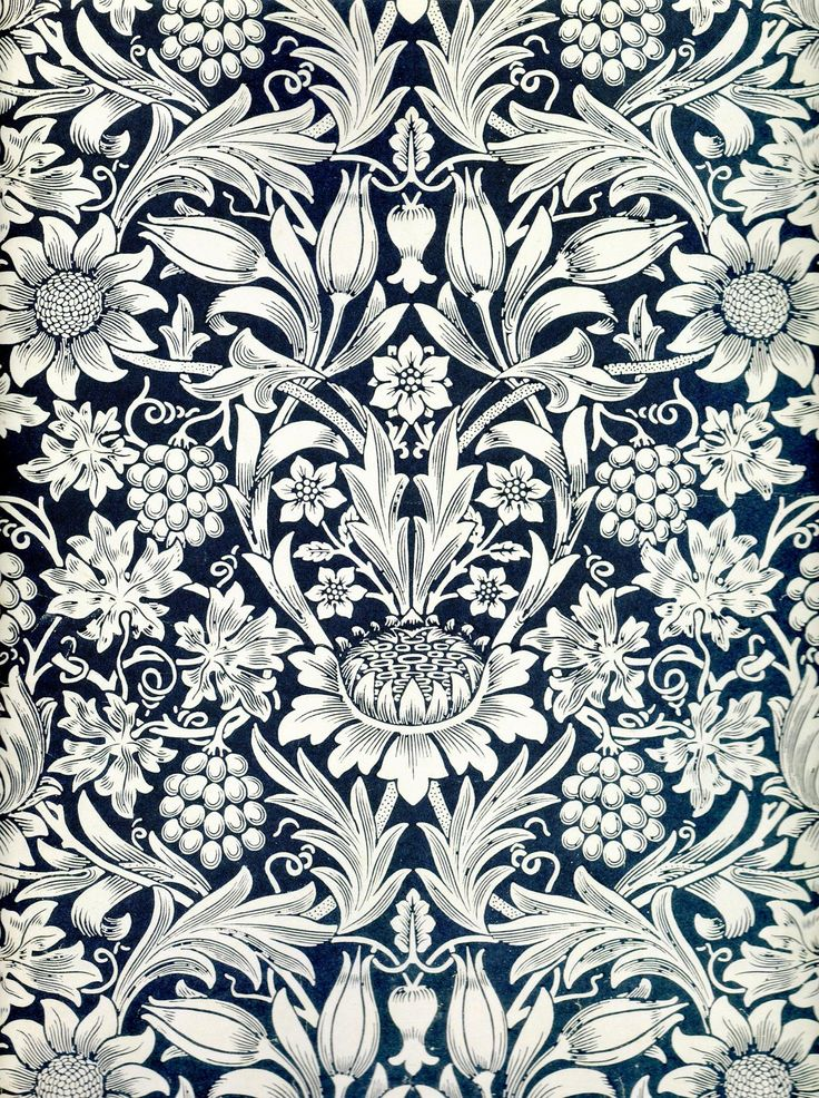Sunflower wallpaper by William Morris