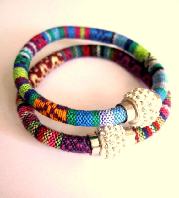 Tribal Woven bracelet Bohemian Jewelry by BohemianHooksJewelry