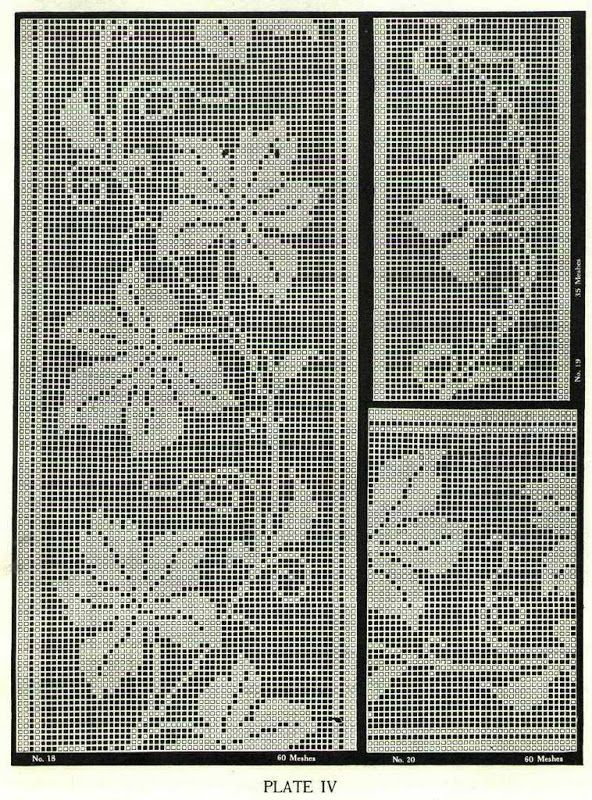 Book of Filet Crochet and cross Stitch Book N 6