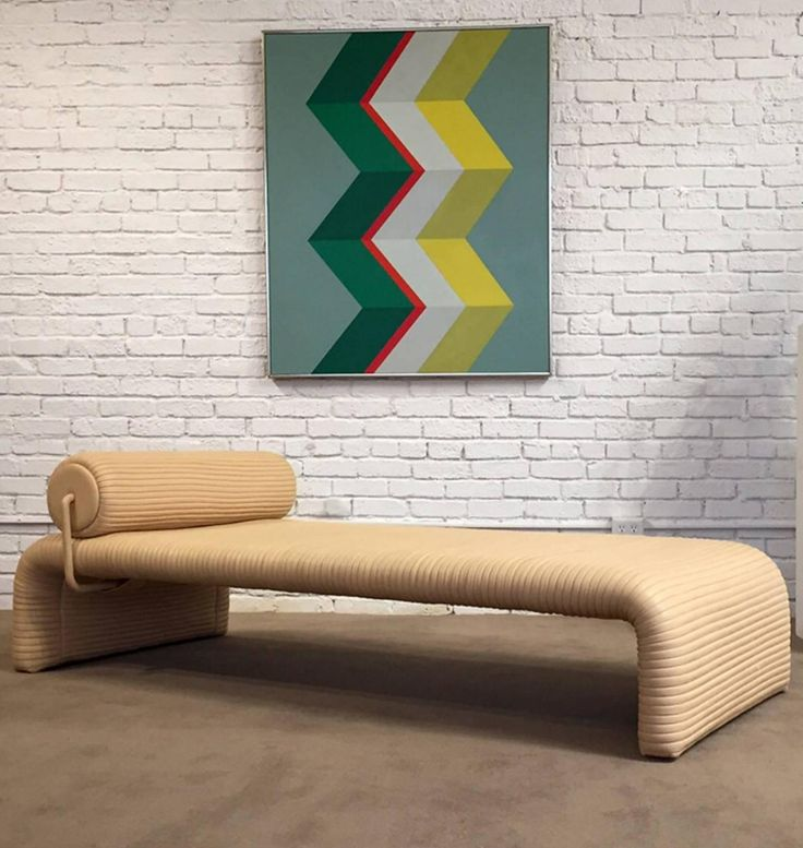 Anonymous; Leather Daybed by De Sede, 1984.
