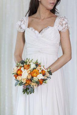 Vakre brudebuketter til bryllupet