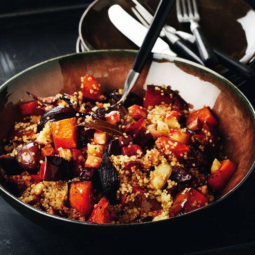 Quinoa met gegrilde groenten - recept - okoko recepten