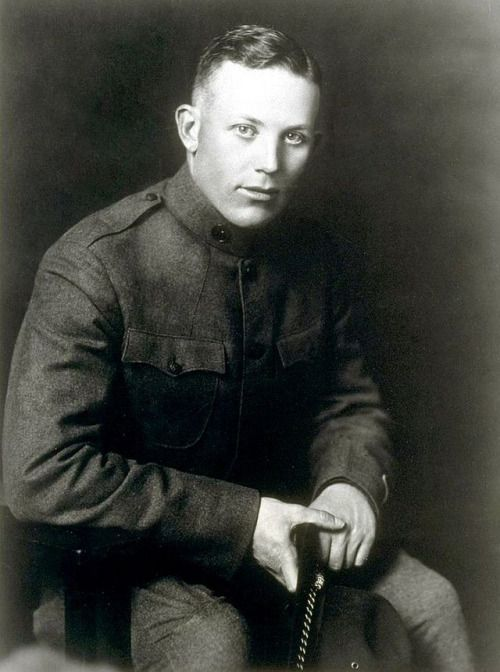 Earl Warren, future Chief Justice of the Supreme Court of the US, when he was only a First Lieutenant of the 91st division, in WWI. Warren would come to be known as a liberal judge, proceeding over such cases as the famed Brown v. Board of Ed, Engel v. Vitale, Miranda v. Arizona, and assorted others.