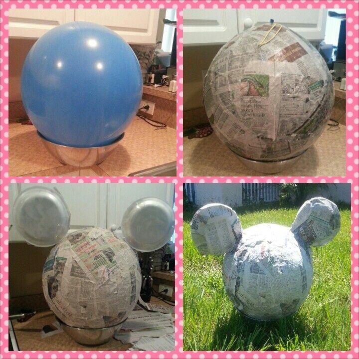 Piñata de Mickey Mouse paso a paso