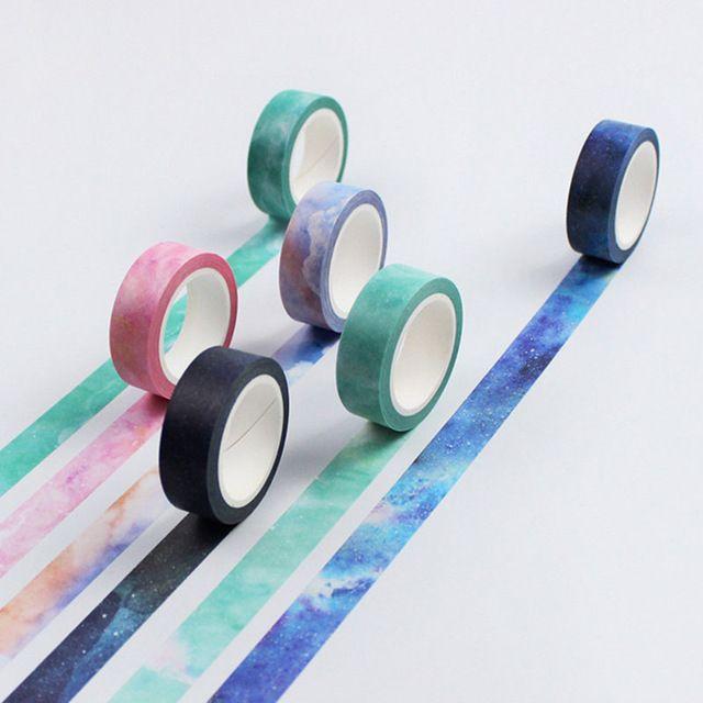 1.5 cm * 8 m sonho cor fita washi fita adesiva fita adesiva etiqueta DIY decoração scrapbooking planejador papelaria adesivo