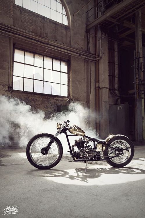 Bobber Inspiration | Brass bike by Sam-customs | Bobbers and Custom Motorcycles