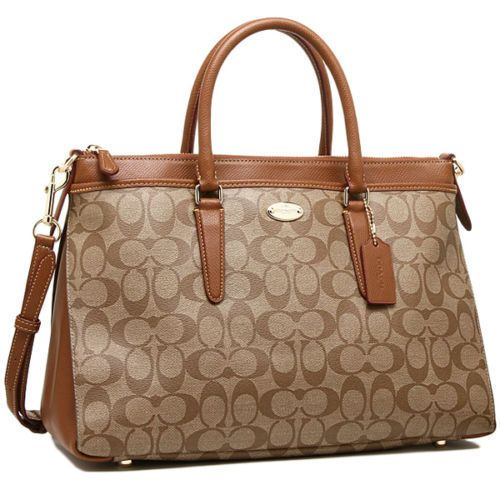 1949a8cca Coach Signature Morgan Large Satchel Shoulder Bag Crossbody Brown Khaki  Saddle #Coach #Satchel | Designer Handbags in 2019 | Coach purses, Coach  shoulder ...